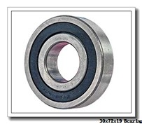 30 mm x 72 mm x 19 mm  KOYO 6306R deep groove ball bearings