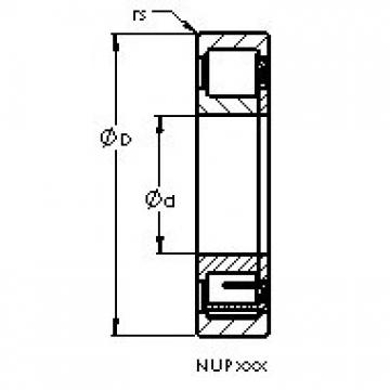 AST NUP314 E cylindrical roller bearings