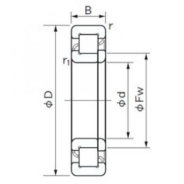 120 mm x 310 mm x 72 mm  NACHI NUP 424 cylindrical roller bearings