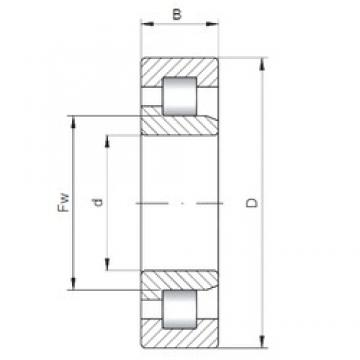 160 mm x 340 mm x 68 mm  ISO NJ332 cylindrical roller bearings