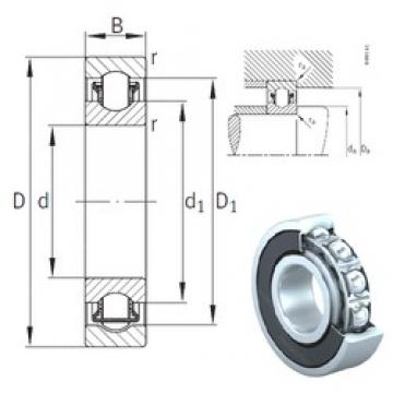 30 mm x 72 mm x 19 mm  INA BXRE306-2RSR needle roller bearings
