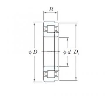 160 mm x 340 mm x 68 mm  KOYO NUP332 cylindrical roller bearings