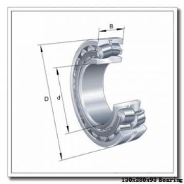 130 mm x 280 mm x 93 mm  NSK NJ2326EM cylindrical roller bearings