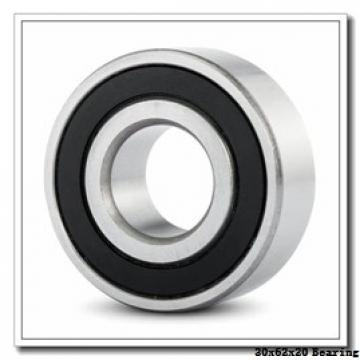30 mm x 62 mm x 20 mm  Loyal 4206 deep groove ball bearings