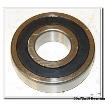 30 mm x 72 mm x 19 mm  NACHI NUP306EG cylindrical roller bearings