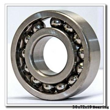 30 mm x 72 mm x 19 mm  Loyal 6306-RS1 deep groove ball bearings