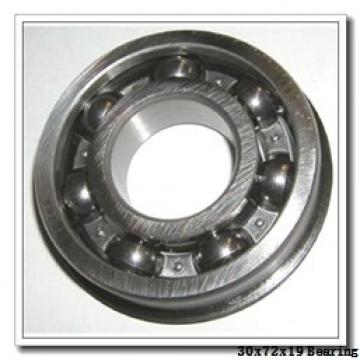 30 mm x 72 mm x 19 mm  NACHI 6306NSE deep groove ball bearings