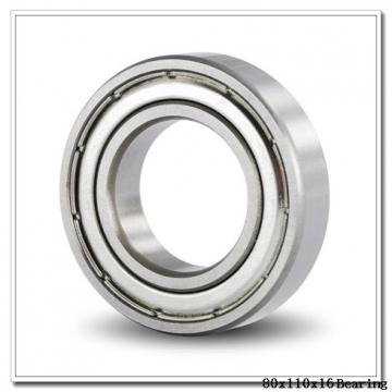 80 mm x 110 mm x 16 mm  NTN 7916DT angular contact ball bearings
