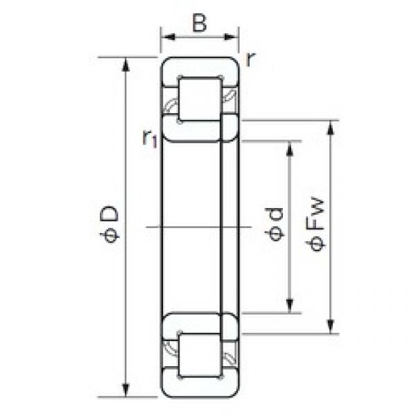 130 mm x 280 mm x 93 mm  NACHI NUP 2326 E cylindrical roller bearings #3 image